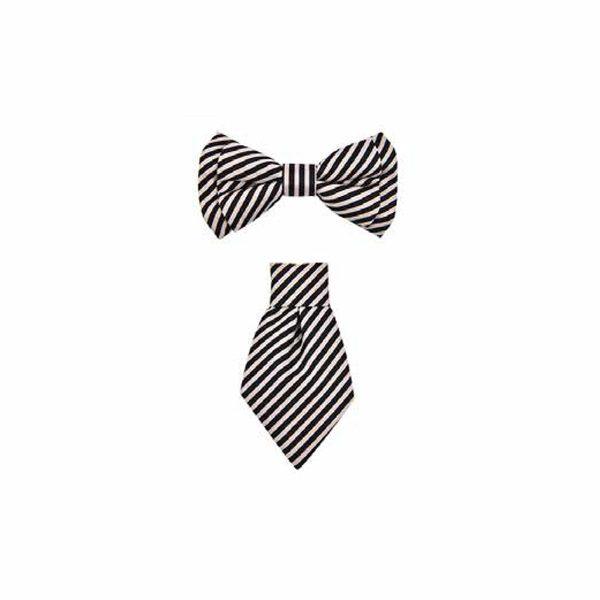 ferribiella cravattina nera papilloni 3 pezzi cane