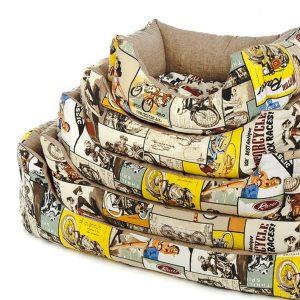 ferribiella cucce rettangolare fifties 60 70 80cm cane