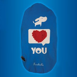 ferribiella t-shirt i love you 25 30 cm cane