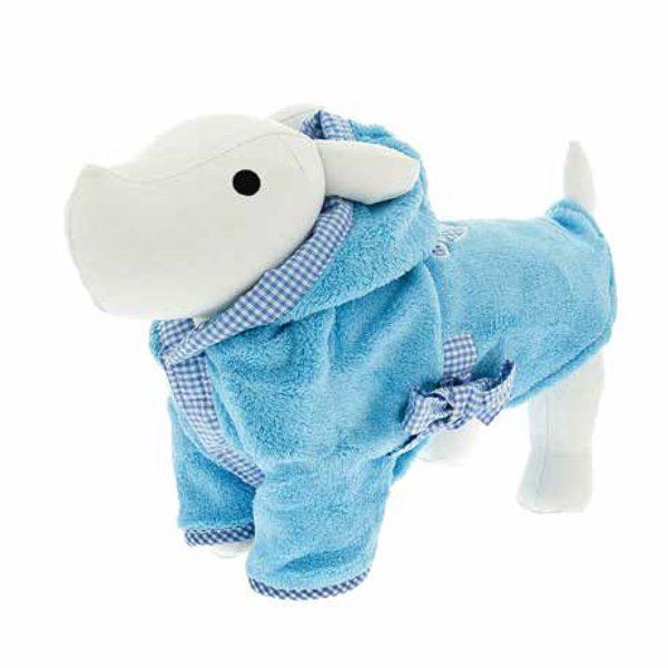 ferribiella accappatoio sm azzurro 28cm cane