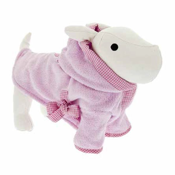 ferribiella accappatoio sm rosa 28cm cane