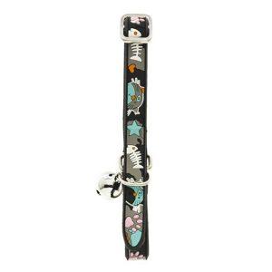 ferribiella collare nylon gomma 1x30cm nero gatto
