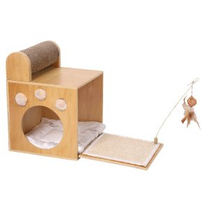ferribiella tiragraffi natura magic box 58x30x42cm gatto