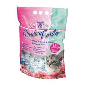 Cat&Rina Lettiera silicio profumata giardino fiorito gatto