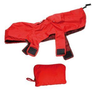 Impermeabile pocket e bag rosso Record